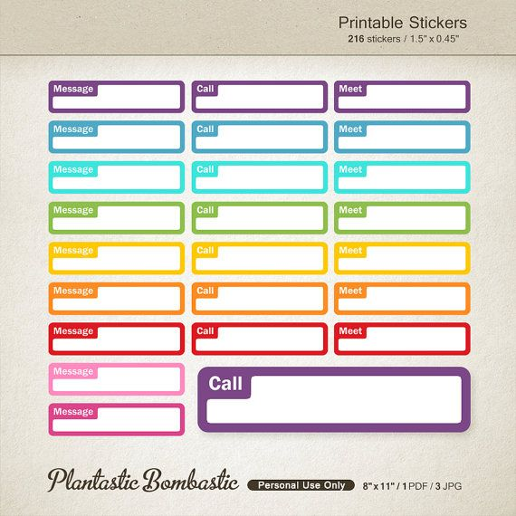 Life Planner Stickers Appointment Printable Planner Stickers