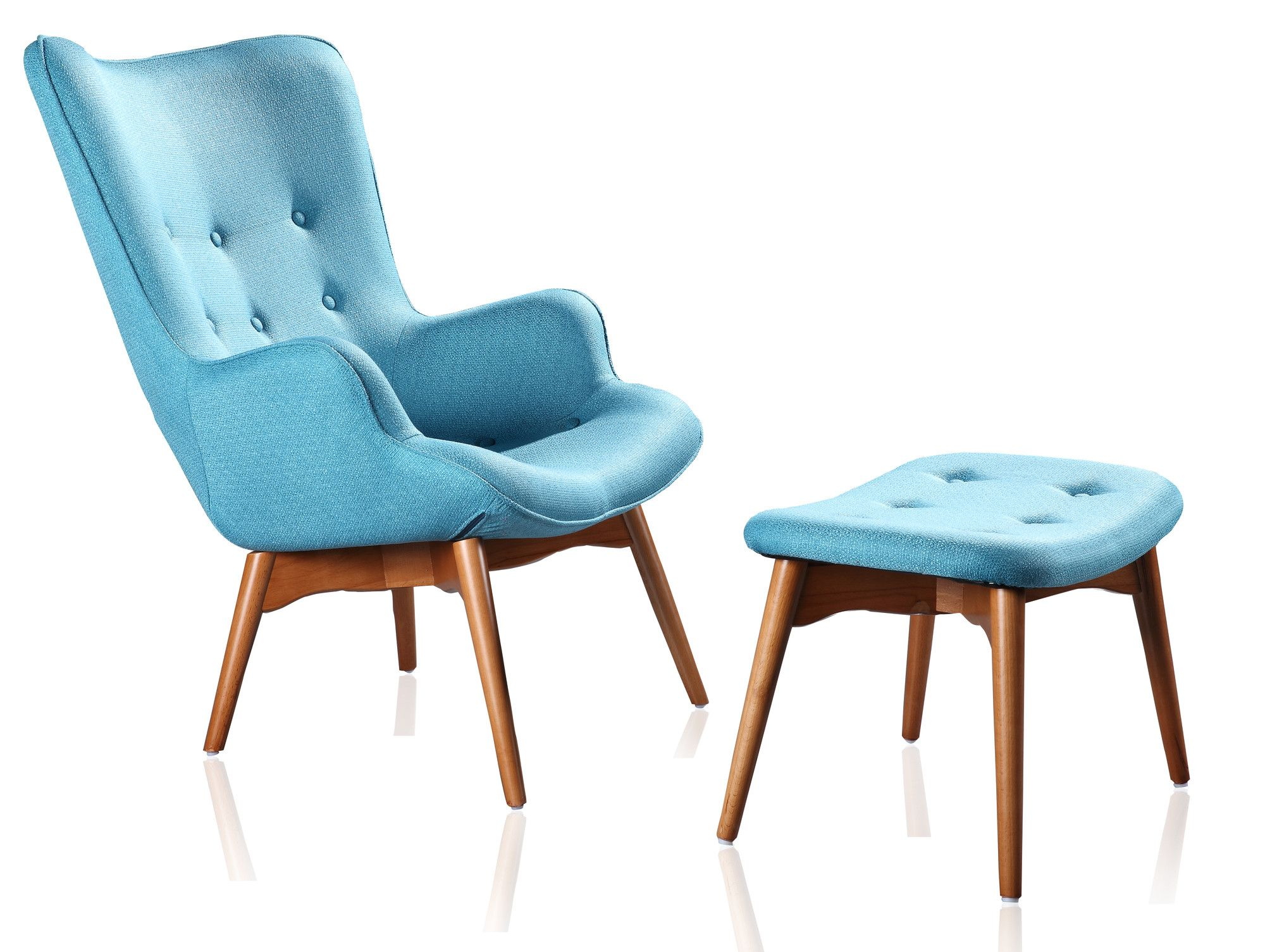International Design Huggy Mid Century Chair & Ottoman Set & Reviews | Wayfair