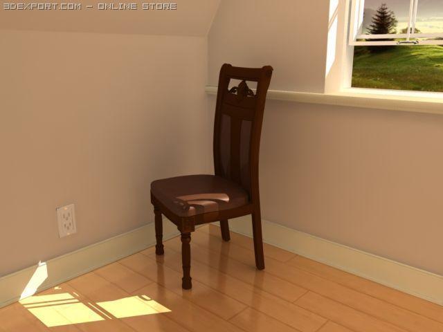 3D Model Royal chair c4d, obj, 3ds, fbx