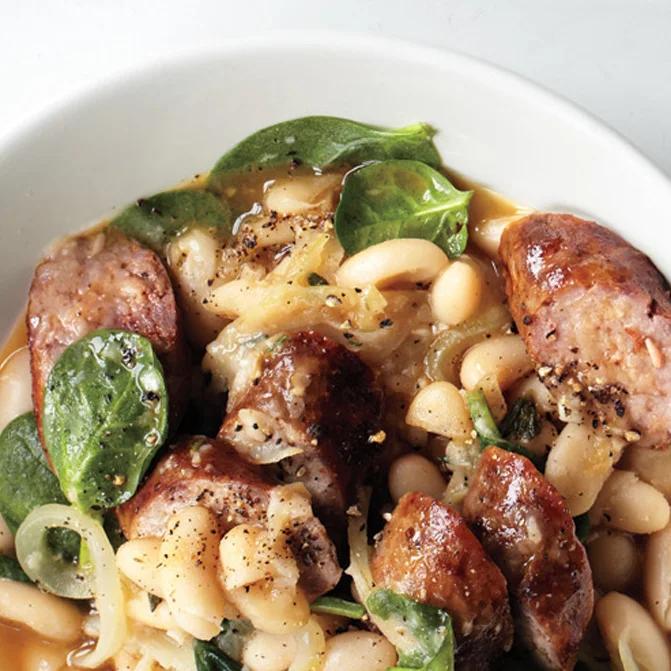 Chorizo and White Bean Stew Recipe Recipe in 2020 Bean
