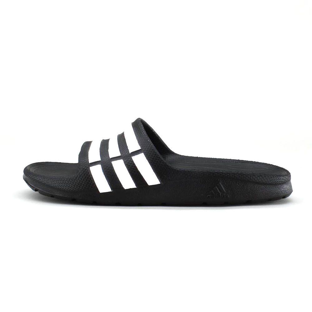 391dfffb7a48 ADIDAS SLIDES SANDALS DURAMO K BLACK WHITE KIDS BOY S GIRL S G067799 SZ 5Y   adidas  Sandals