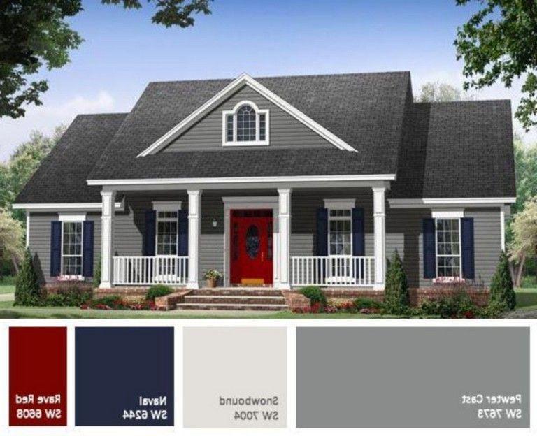 38 Marvelous Exterior Paint Color Ideas Red Brick Page 15 Of 40 Exterior Paint Colors For House House Paint Exterior Exterior House Colors