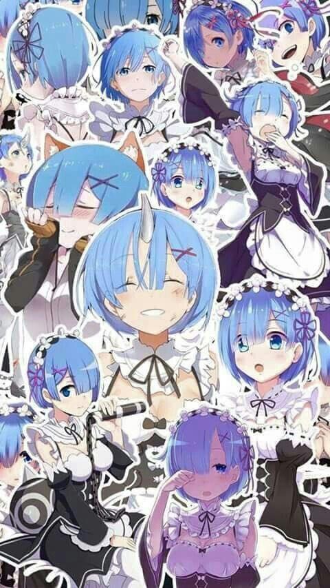 Collage Rem Rezero Pinterest Anime Ram And Rem Et Anime Art