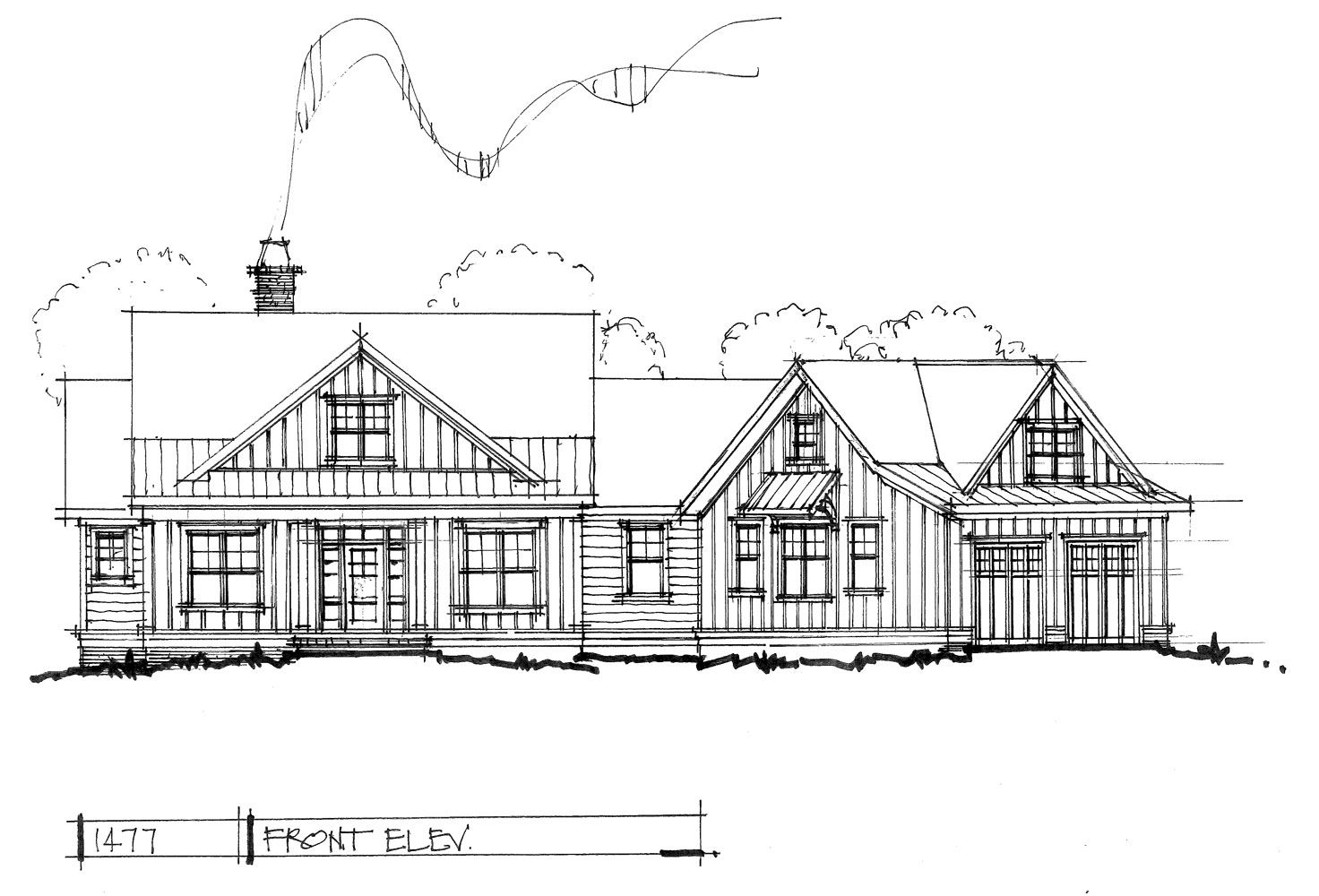 HOUSE PLAN 1477 - NOW IN PROGRESS | House, Cabin and Front porches