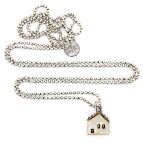 Witte sieraden, armbanden, kettingen en oorbellen - Applepiepieces