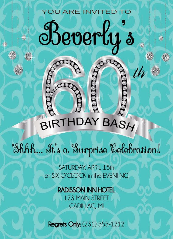 60th birthday invitation diy or printable by fabpartyprints adult 60th birthday invitation diy or printable by fabpartyprints filmwisefo