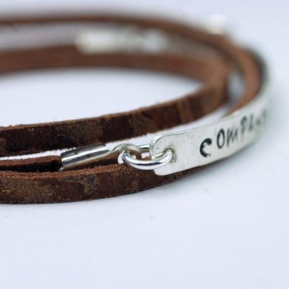 Compassion International Leather And Silver Bracelet Nice Gift For