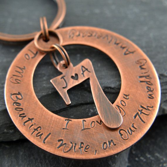 Copper Anniversary Gifts For Men, Personalized Copper