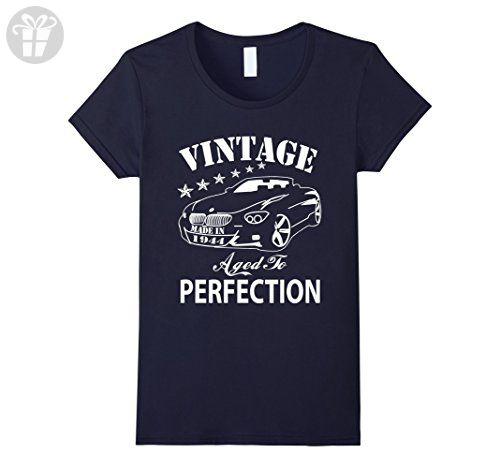 Womens 73 Birthday Vintage Made in 1944 Gift ideas Man T shirt Medium Navy - Birthday shirts (*Amazon Partner-Link)