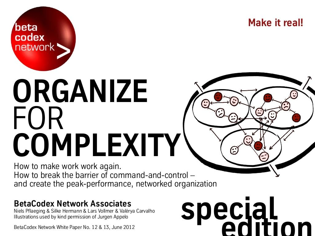 special-edition-paper-organize-for-complexity-part-iii by Niels Pflaeging via Slideshare