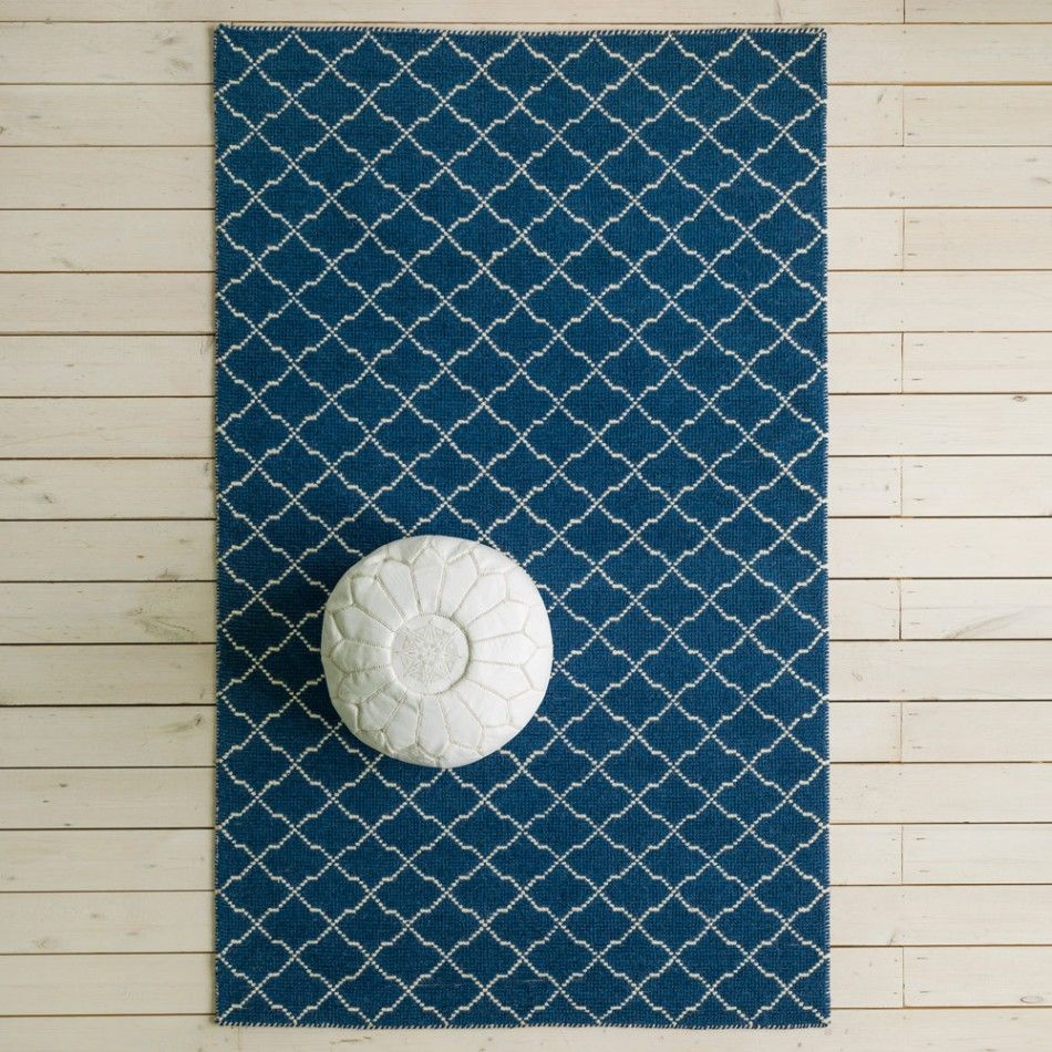 Graham And Green Emperor Rug: Aztec Navy & White Rug