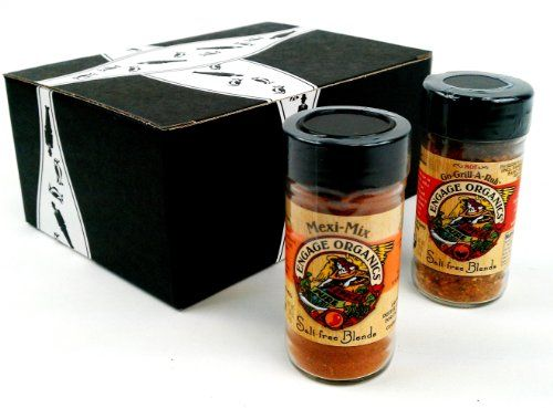 Engage Organics Salt-Free Seasoning Blends: One 2 oz Jar of Hot Go-Grill-A-Rub and One 1.9 oz Jar of Mexi-Mix in a Gift Box - http://spicegrinder.biz/engage-organics-salt-free-seasoning-blends-one-2-oz-jar-of-hot-go-grill-a-rub-and-one-1-9-oz-jar-of-mexi-mix-in-a-gift-box/