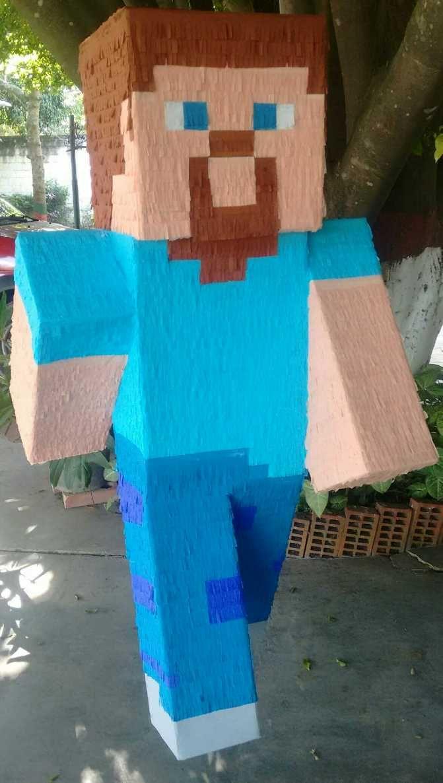 Piñata Minecraft Facebook:bpdisenos Instagram: @bpdisenos @axe ...