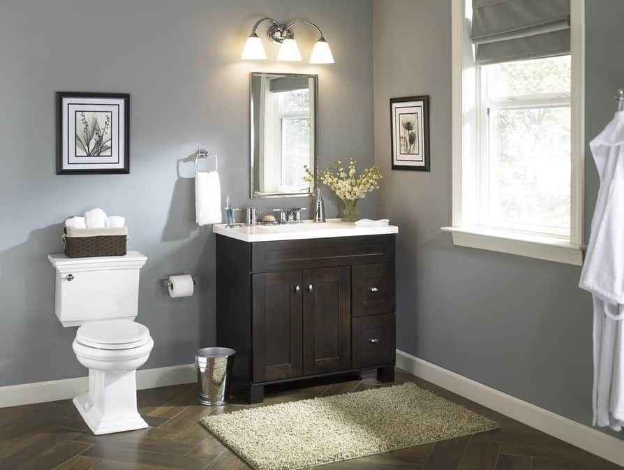 24 inch bathroom vanity lowes (Dengan gambar)