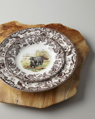 Woodlands Black Bear  Dinnerware by Spode at Horchow. | Horchow Now Rustic Design | Pinterest | Dinnerware Cabin and Rustic dinnerware & Woodlands Black Bear