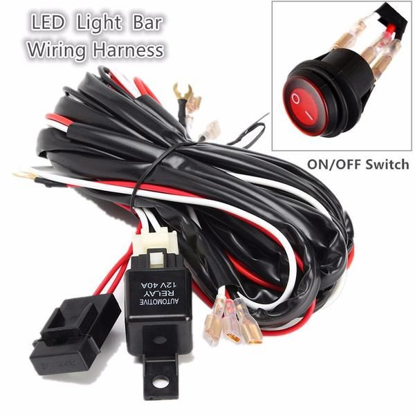 5519b63b356345fc7d9405fd9d98a862 270cm offroad driving lamp extention wire relay work light bar wire works harness at fashall.co