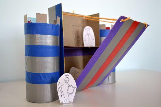 castillo con caja de cereales  CerealBoxCastle