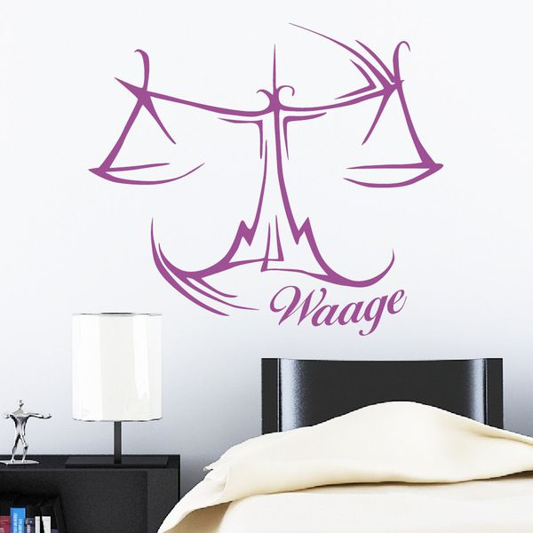 wandtattoo sternzeichen waage 55 x 62 cm astro von. Black Bedroom Furniture Sets. Home Design Ideas
