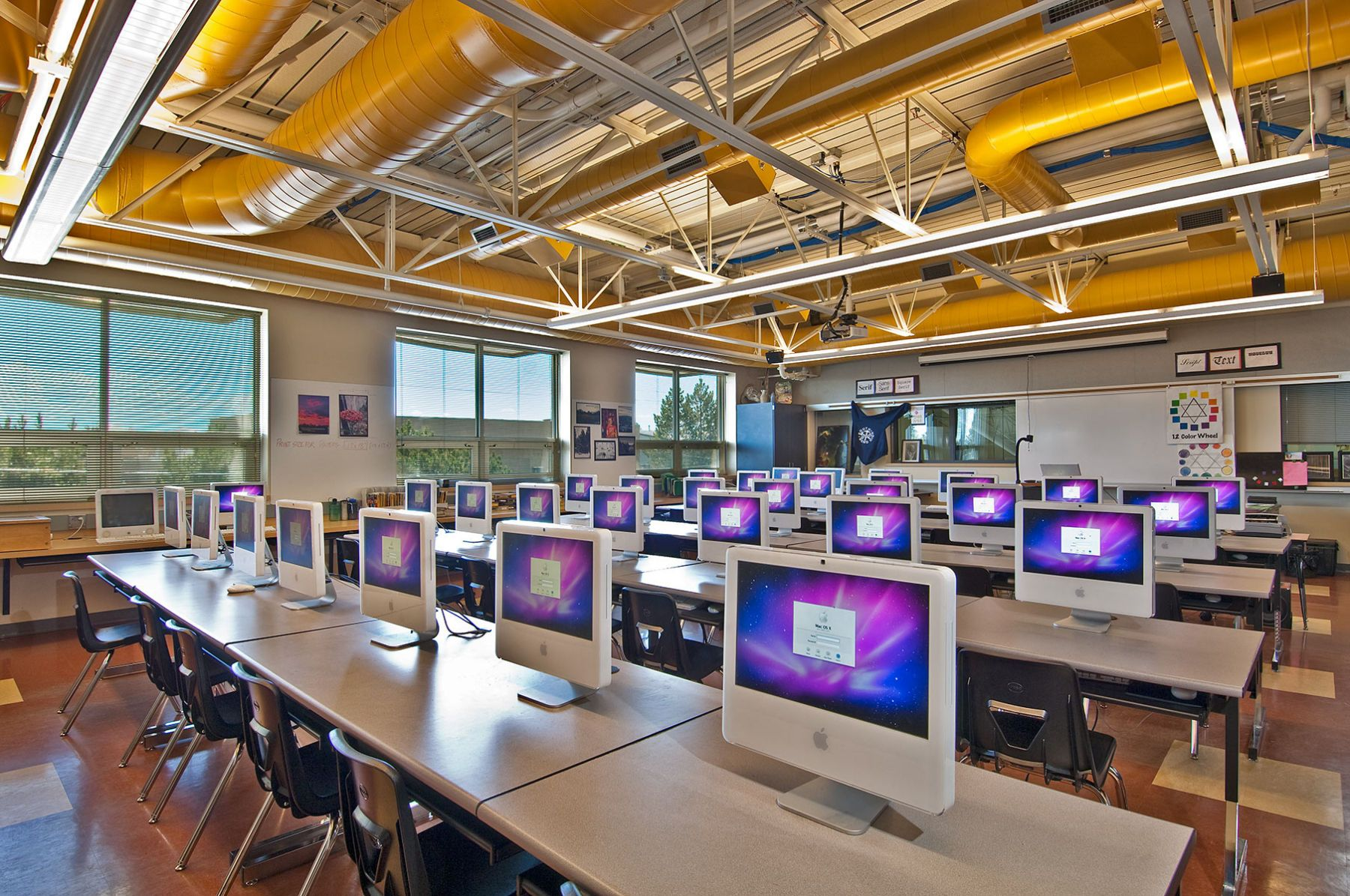 Design Classroom At Bend High School Technical Center Bend Or Learning Spaces