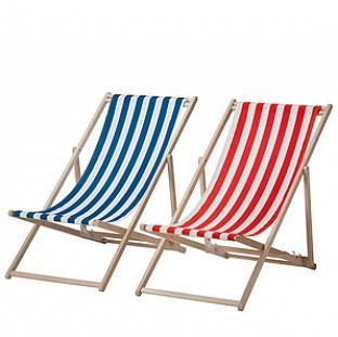 Ikea Striped Beach Chairs Out Of Doors Pinterest