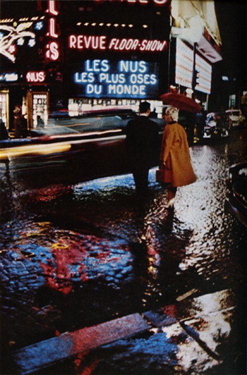 First Time User Place Pigalle 1959 Photo By Peter Cornelius Old Paris Paris Colour Photograph