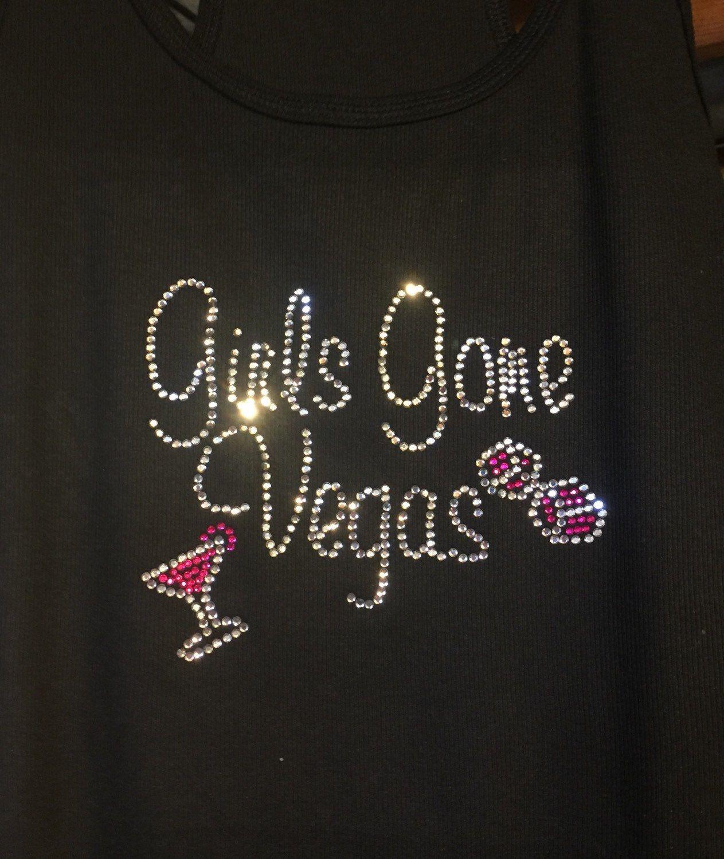 99cea2a1 Girls gone vegas tshirt or tank top by Jkdezign on Etsy | Rhinestone ...