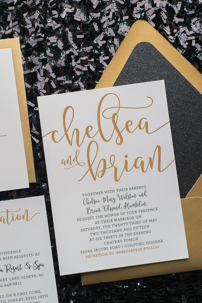 CHELSEA Suite Glitter Package, black and gold glitter wedding ...