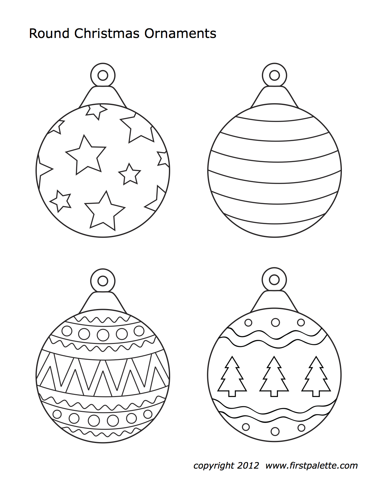 Christmas Ornaments Christmas Ornament Template Christmas Tree Coloring Page Printable Christmas Coloring Pages
