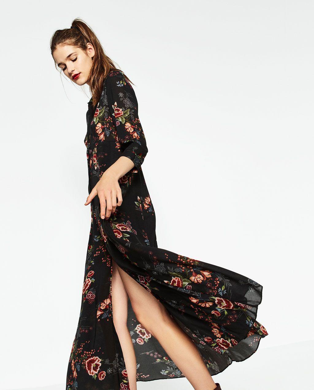 Zara mujer vestidos largos fiesta