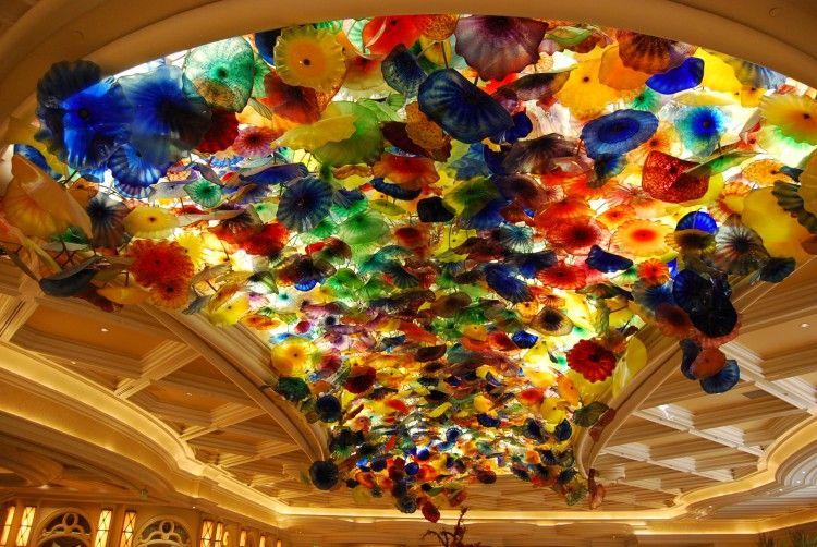 Ceiling Installation At The Bellagio Hotel In Las Vegas
