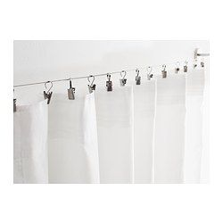 RIKTIG Curtain hook with clip - IKEA - cheap pattern storage option for clips to use on string against wall or back of door