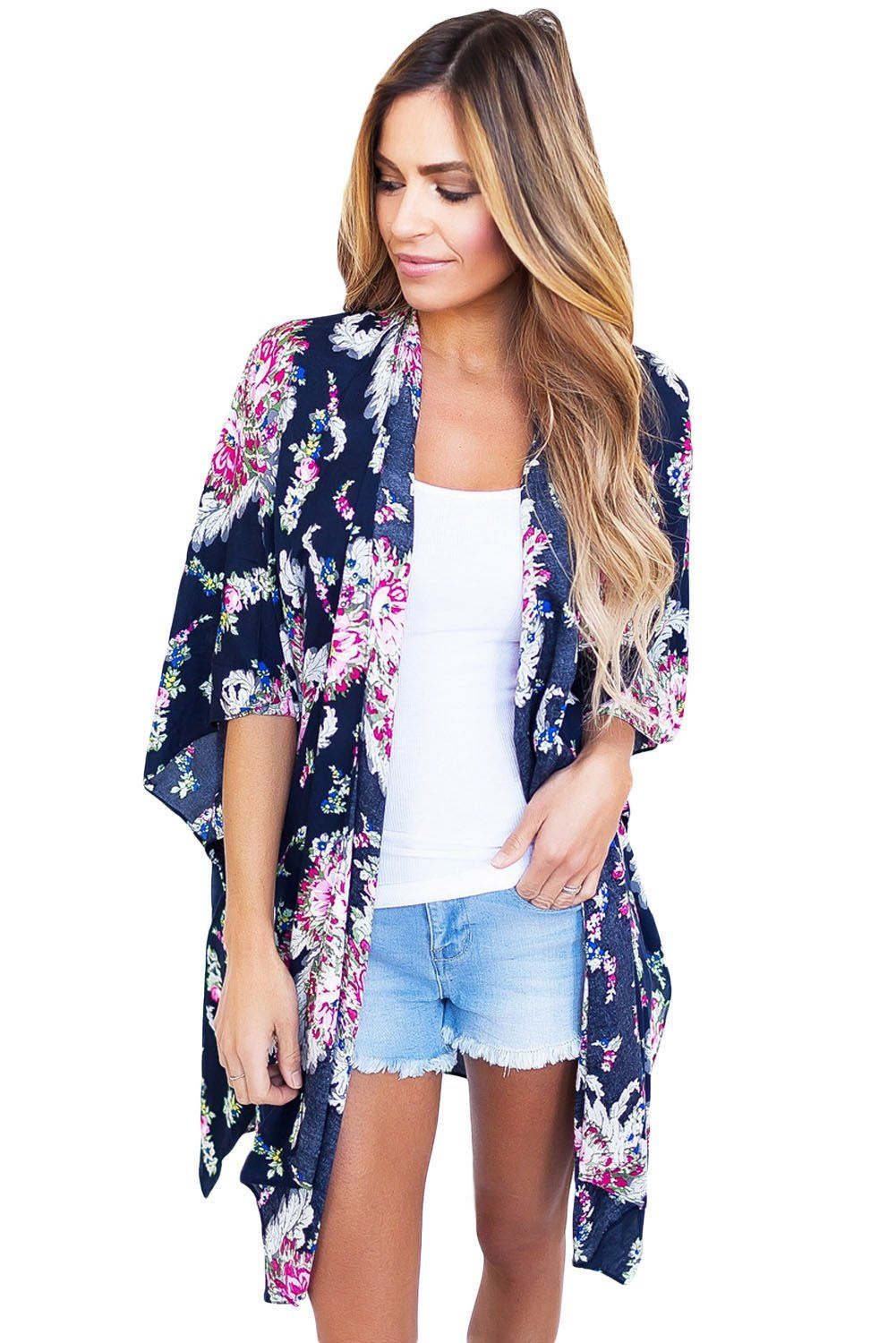 This gorgeous kimono is made for spring afternoons with your