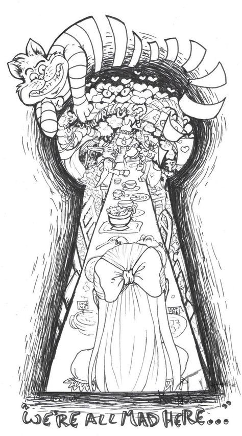 Um outro olhar de Alice no pais das maravilhas | Tattoos and ...