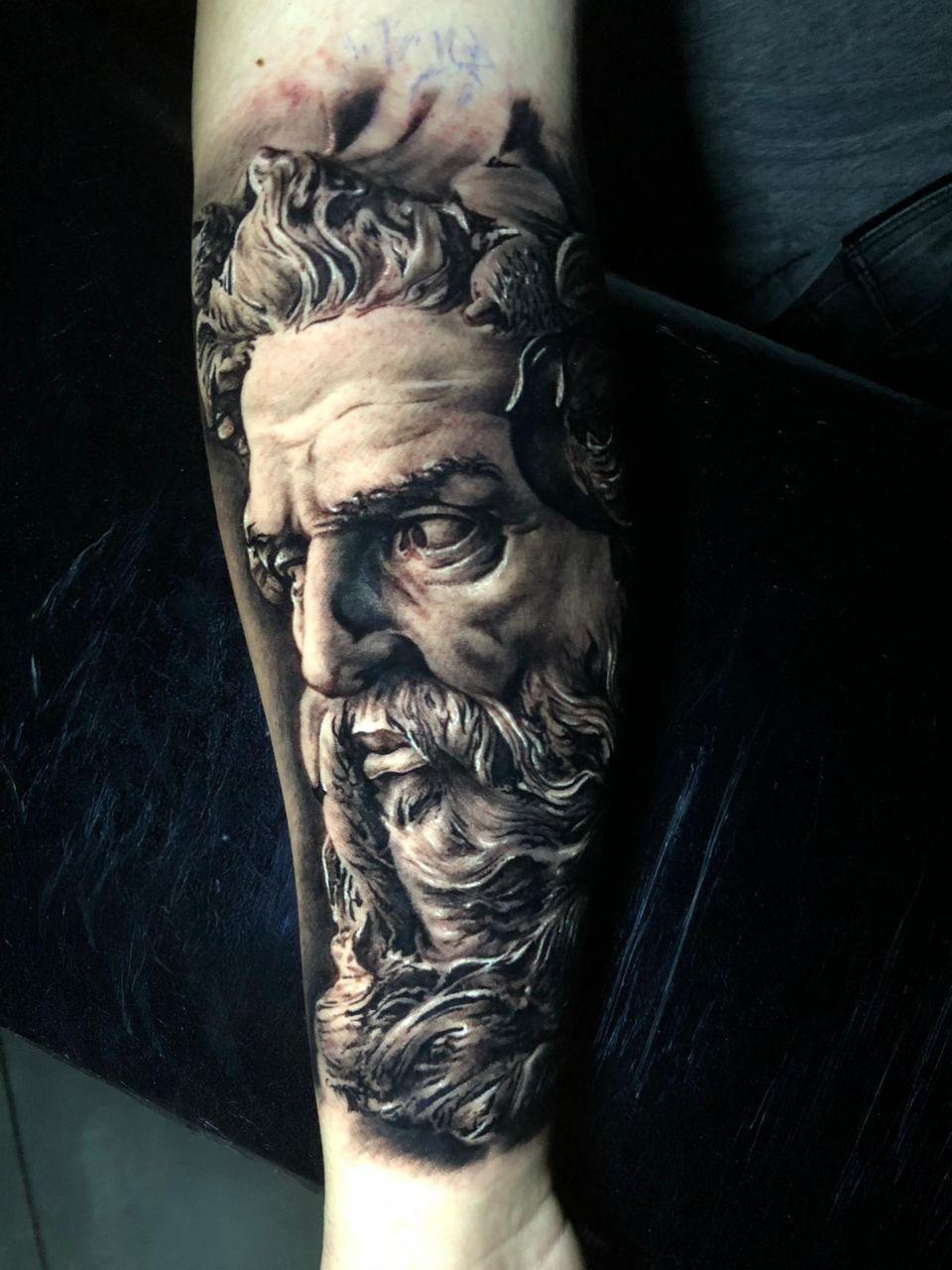 Pin By Drapanosdon On Tattoos Greek God Tattoo Poseidon Tattoo Greek Tattoos