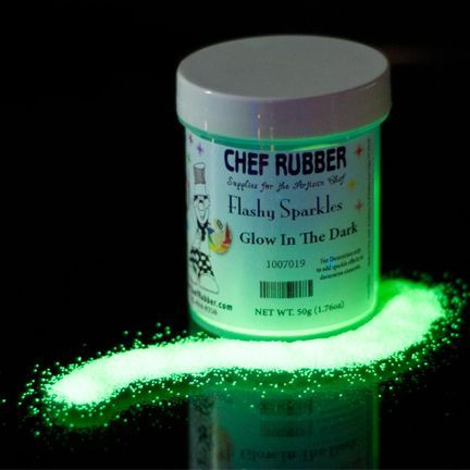 Edible glow in the dark glitter for cakesneed this for gruesome