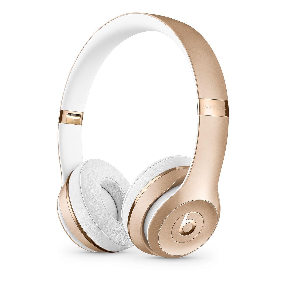 Beats Solo3 Wireless On Ear Headphones Satin Gold Apple Rose Gold Beats Beats Headphones Wireless Wireless Beats