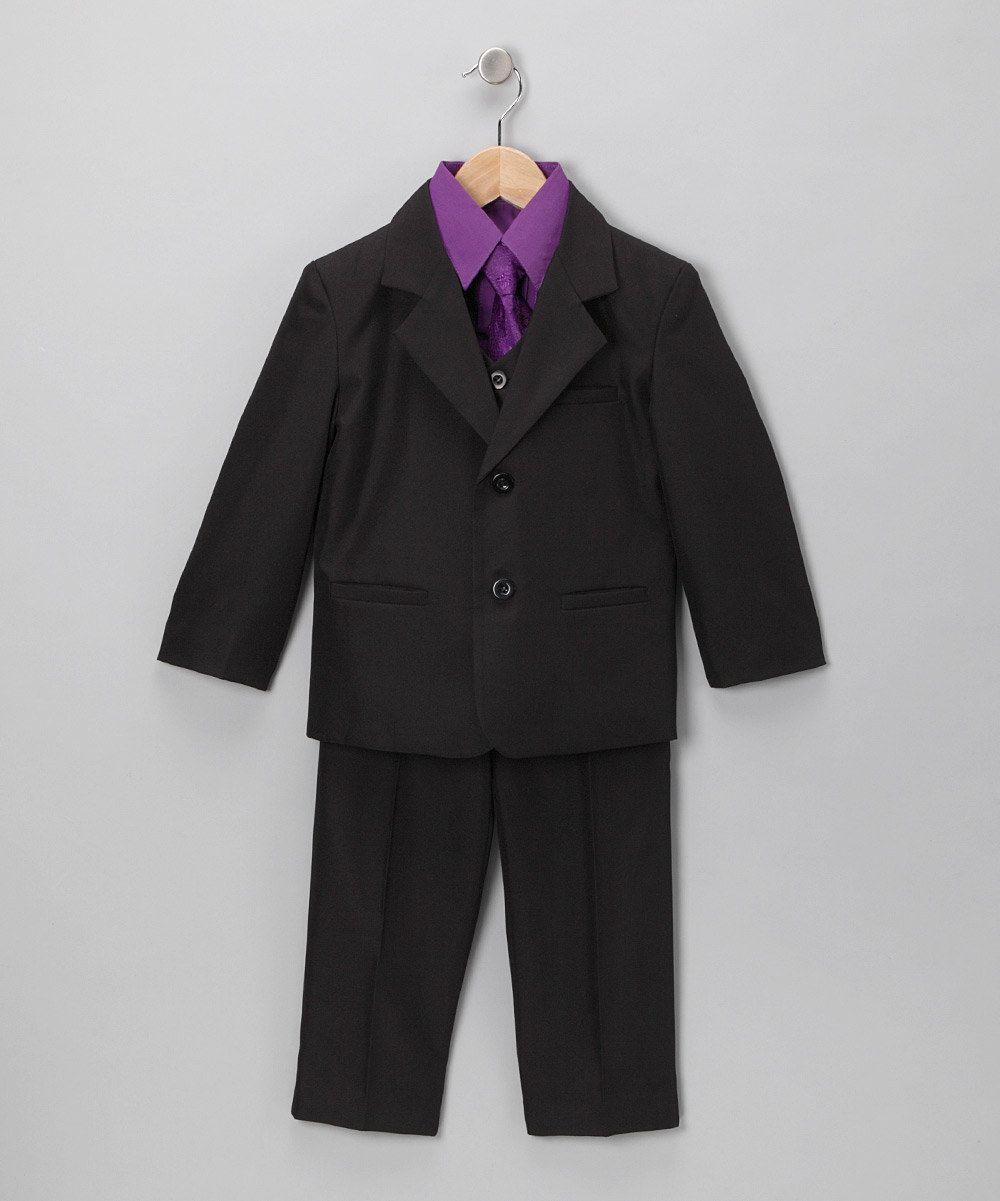 Black & Purple 5-Piece Suit RING BEARER :) | When Hannah meets The ...