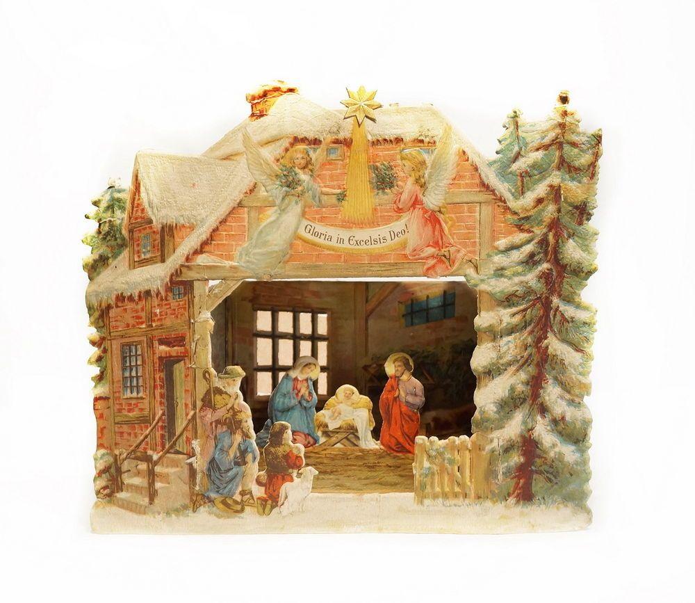 Krippe Weihnachten Kinderkrippe Advent Dekoration 5262