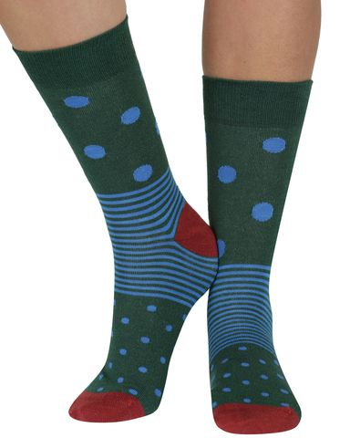 Spot n Stripe bamboo organic crew socks in earthseriouslysillysocks