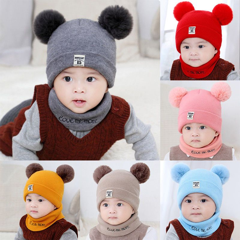 Toddler Kids Girl Boy Baby Infant Winter Crochet Knit Hat Beanie Cap Scarf  Set  fashion  clothing  shoes  accessories  babytoddlerclothing   babyaccessories ... f0c5157fb021