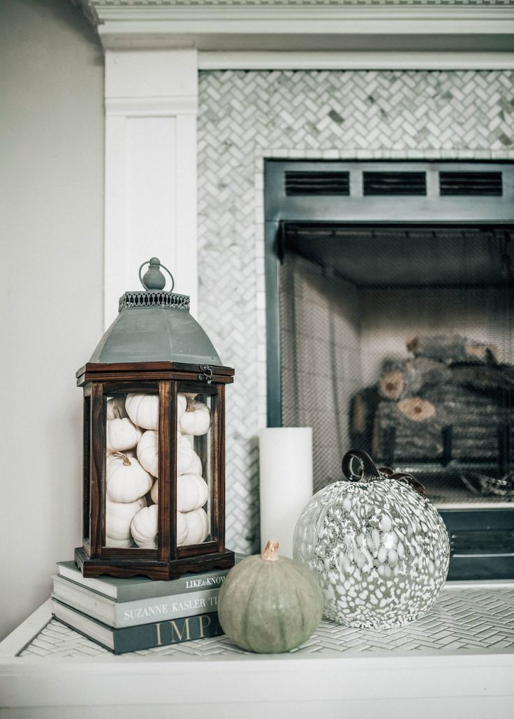 6 Essentials For a Fall Mantle - Pretty in the Pines, North Carolina Lifestyle and Fashion Blog #fallmantledecor