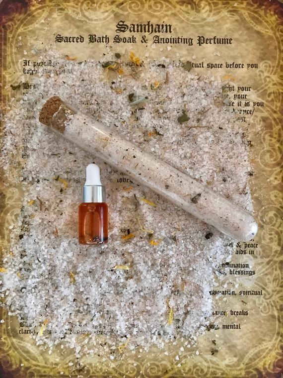Samhain Sacred Bath Soak & Anointing Perfume Ritual Set