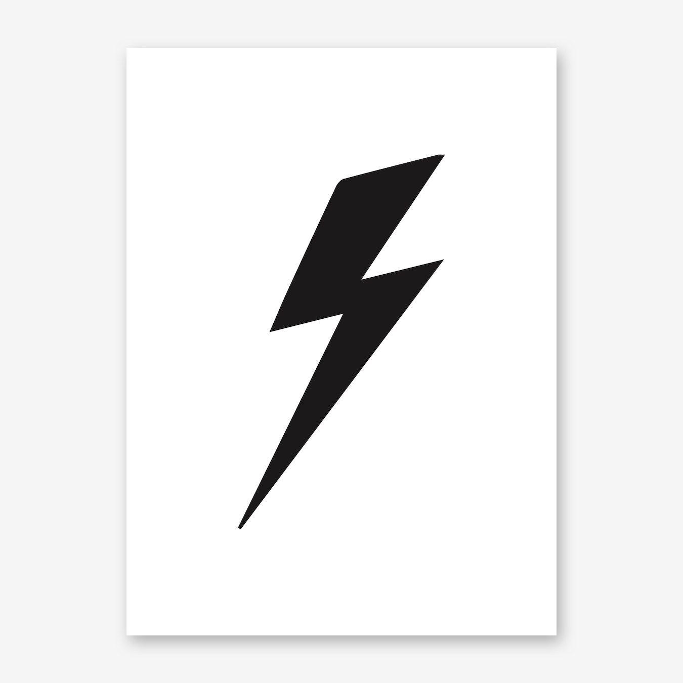Lightning Bolt Art Print Lightning Bolt Art Lightning Bolt Tattoo Lightning Bolt