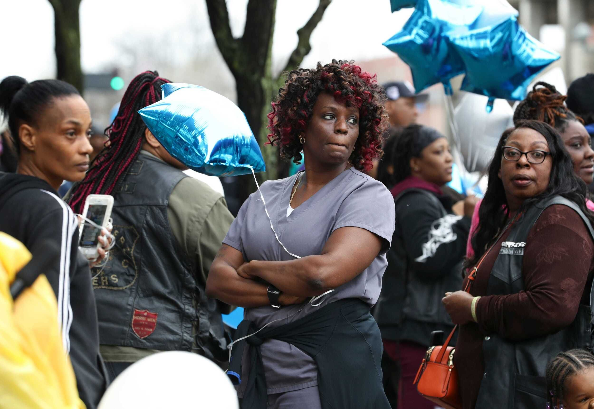 Friends And Family Attended A Vigil For Breonna Taylor Outside The Judicial Center In Downtown Louisville Ky On