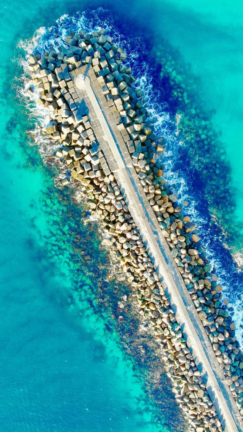 Wallpaper Day View Stones Pier Sea Australia For Hd 4k Wallpaperday For Desktop Mobile Phones Free D Drone Photography Aerial Images Aerial Photography