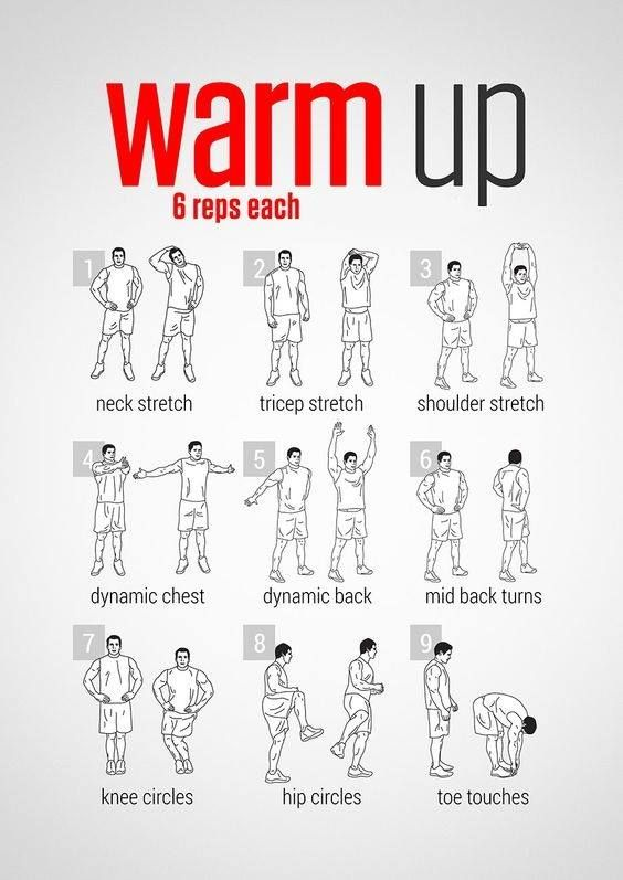Health and Fitness Tips | Gym Nutrition Diet | Wellbeing & Natural Beauty  Guide | Warm ups before workout, Workout warm up, Pre workout stretches