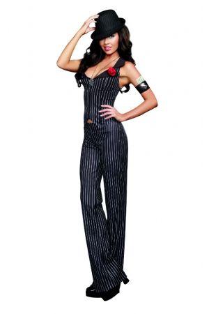 BLACK 4 PIECE CRIME TIME GANGSTER COSTUME  sc 1 st  Pinterest & BLACK 4 PIECE CRIME TIME GANGSTER COSTUME | Costume Ideas ...