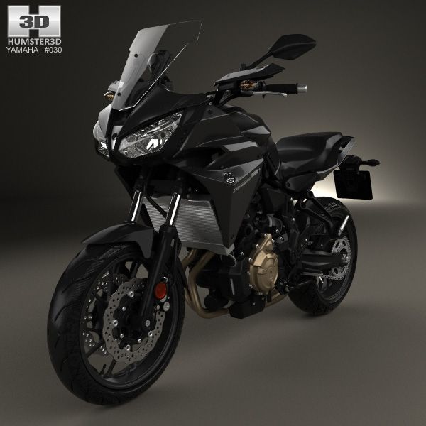 yamaha mt 07 tracer 2016 3d model from yamaha. Black Bedroom Furniture Sets. Home Design Ideas
