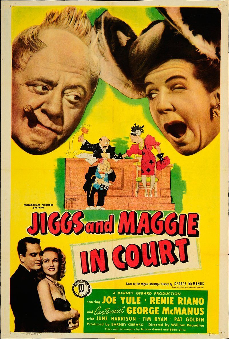 Jiggs and maggie in court 1948 authentic 27 x 41