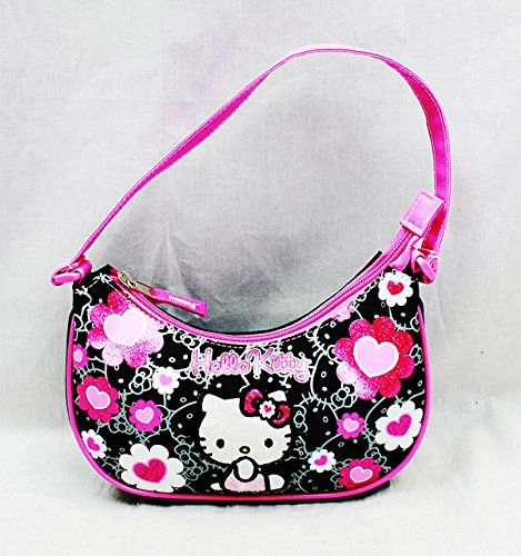 34aeba6f5 Handbag - Hello Kitty - Black Flower Bow New Hand Bag Purse Girls 84013 ***  You can find more details by visiting the image link.
